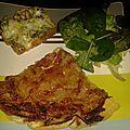 Tarte tatin aux oignons et aux lardons