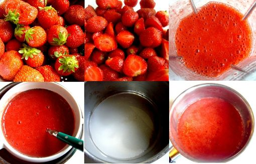 montage sorbet fraise