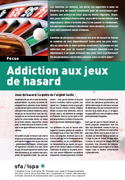 addiction aux jeux de hasard document suisse veille documentaire sur les d pendances. Black Bedroom Furniture Sets. Home Design Ideas