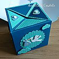 Carte naissance cube pop up - face 2