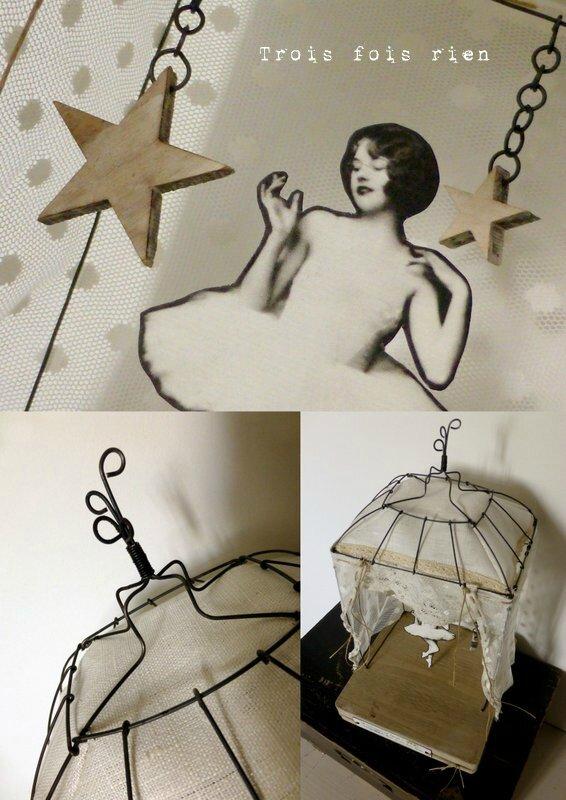 Théâtre fil de fer, danseuse, étoiles, insouciance, wire theatre 5