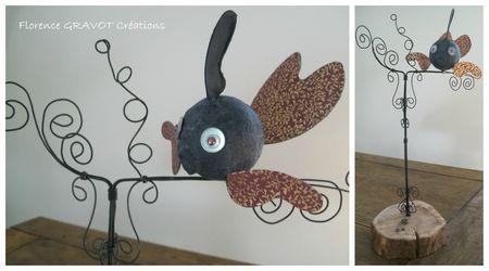 perchoir poisson noir