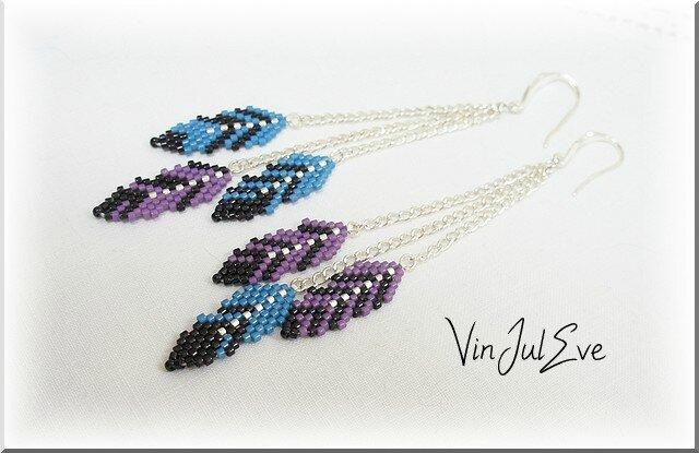 BO plumes violet bleu