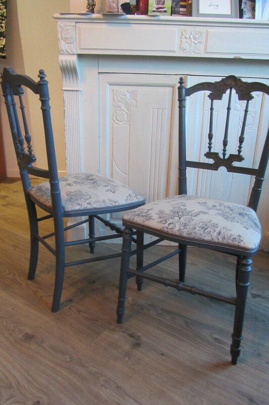 chaises déco retapissées