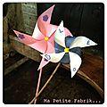 Le diy du mercredi... créer un moulin à vent en papier...