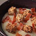 Velouté panais, croûtons à la noisette et bacon crispy