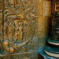 Détail de la façade de la basilique de saint-Denis.