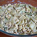 Cotes de porc aux herbes et son gratin de crozets aux blettes
