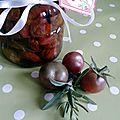 Conserves de tomates cerises confites à l'huile d'olive