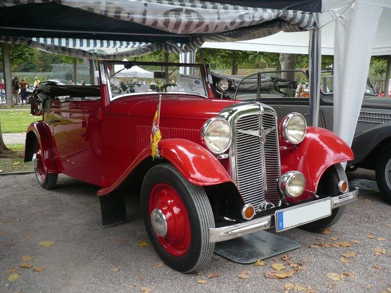 ADLER Trumpf cabriolet 1934 Schwetzingen (1)