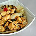 Nouilles de riz maison au poulet