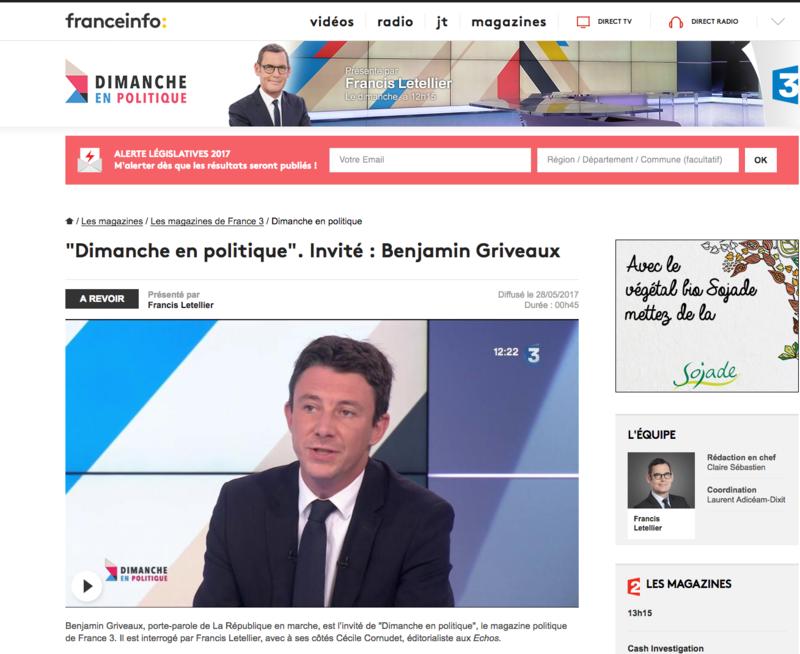 Dimanche en politique Benjamin Griveaux