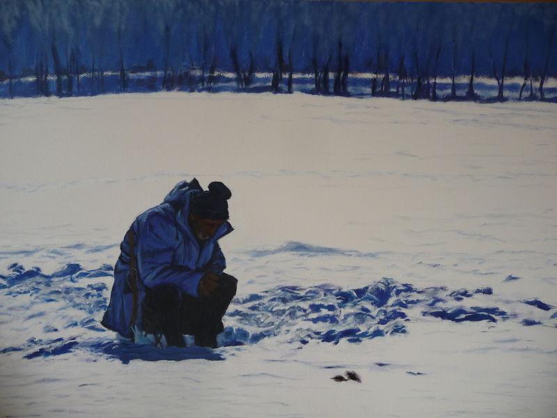 Le pêcheur dans la glace