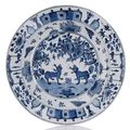 A rare blue and white porcelain export dish for the Portuguese market, China, Wanli period, ca. 1590 .