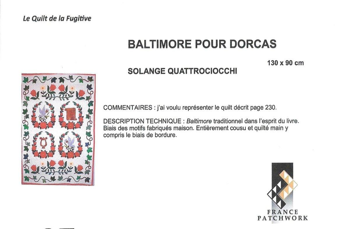 27-Collectif Les accueillantes de l'espace France Patchworh-LA FUGITIVE