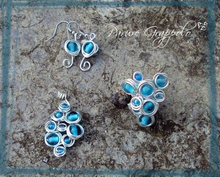 parure grappolo turquoise