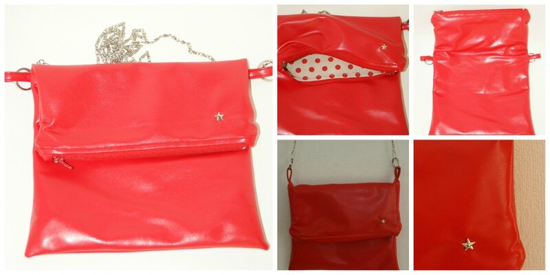 fold over clutch rouge