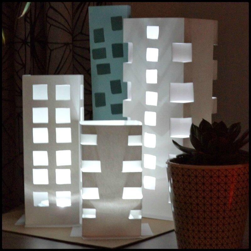 Lampe city en papier Cam&Drey 6