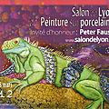 Salon de lyon 2012 # peinture sur porcelaine