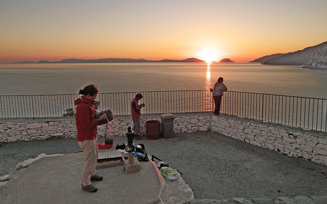 Lever de soleil à Kastri Beach — P1010675