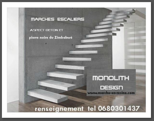 Decoupe sur mesure de marche pour escalier suspendu for Fabrication escalier beton exterieur