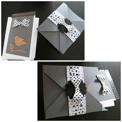 carte et boite stampin up