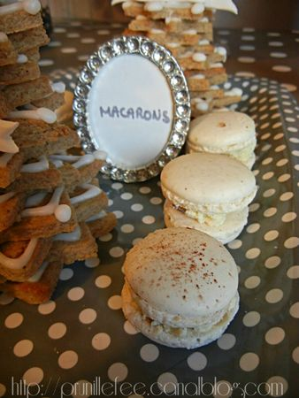 sweet table macarons