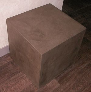 pouf carton et beton cire exoticcreation. Black Bedroom Furniture Sets. Home Design Ideas