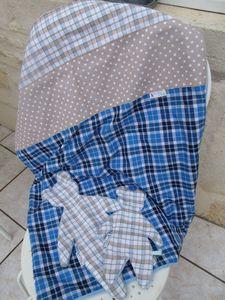 Couverture et doudou assortis Bleu (3)