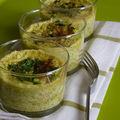 Petits flans quinoa/courgettes