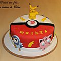 Gateau pokémon { gateau 3 d }