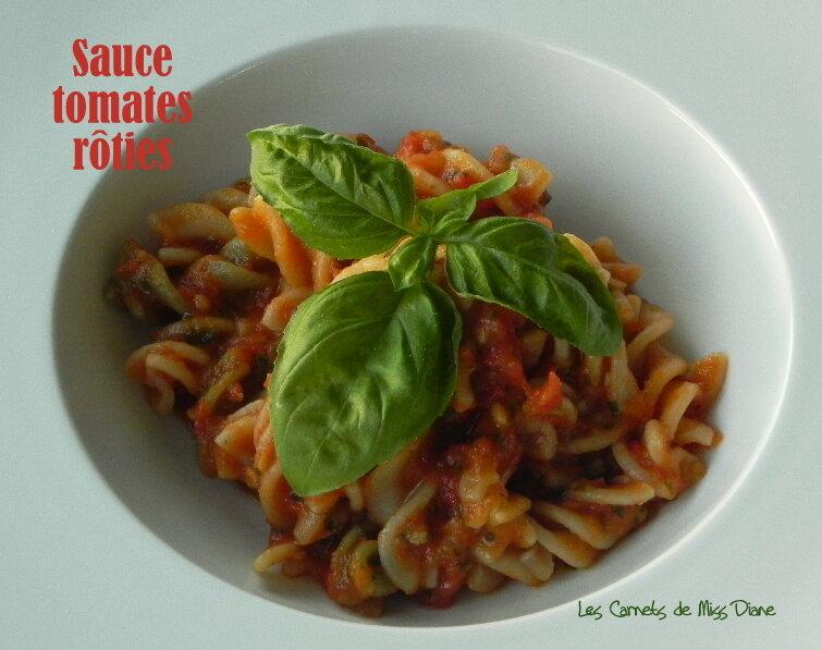 Sauce aux tomates rôties et à l'ail, sans gluten et sans lactose