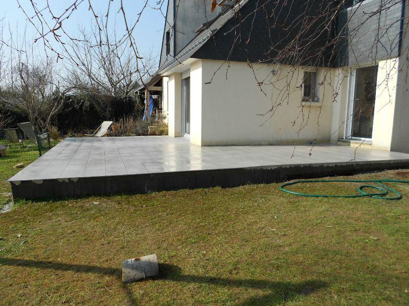 Cration DUne Terrasse Bton Avec Un Carrelage Et Enduits En