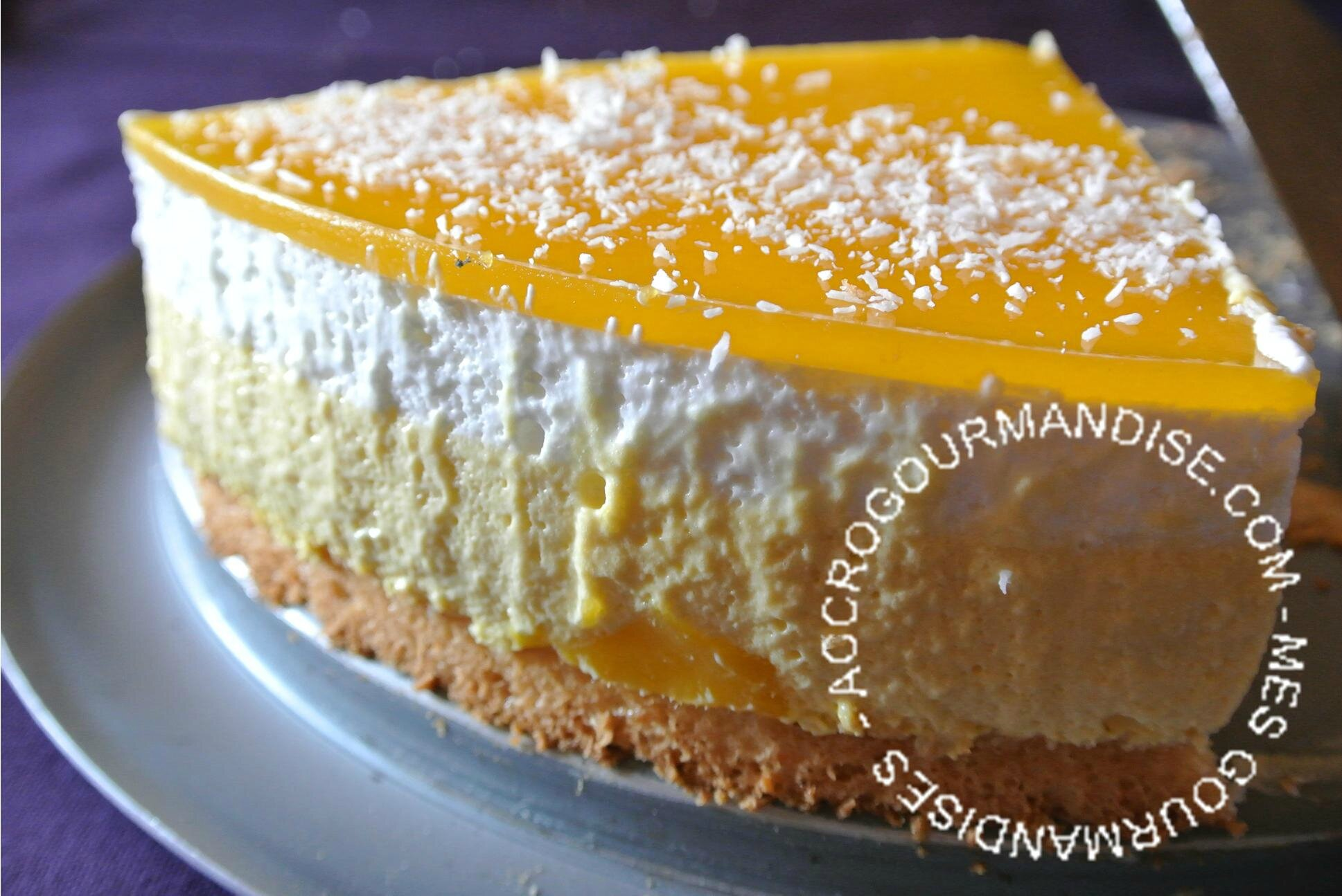 Gateau mangue simple