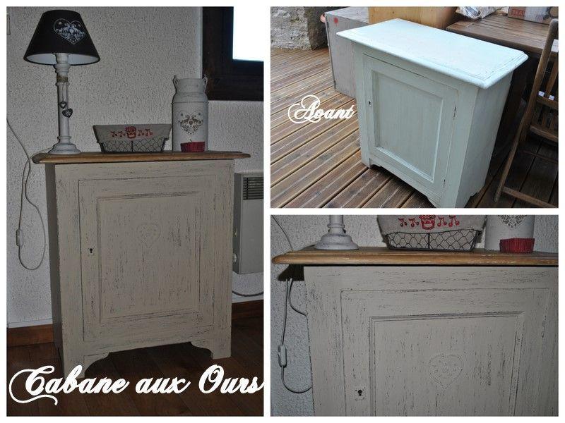 Un petit meuble esprit chalet la cabane aux ours for Relooking petit meuble