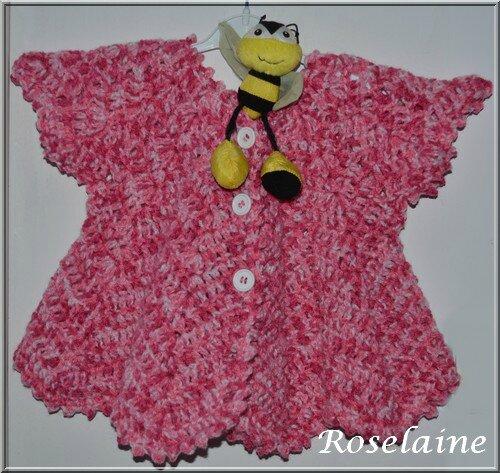 Roselaine033 gilet pétale
