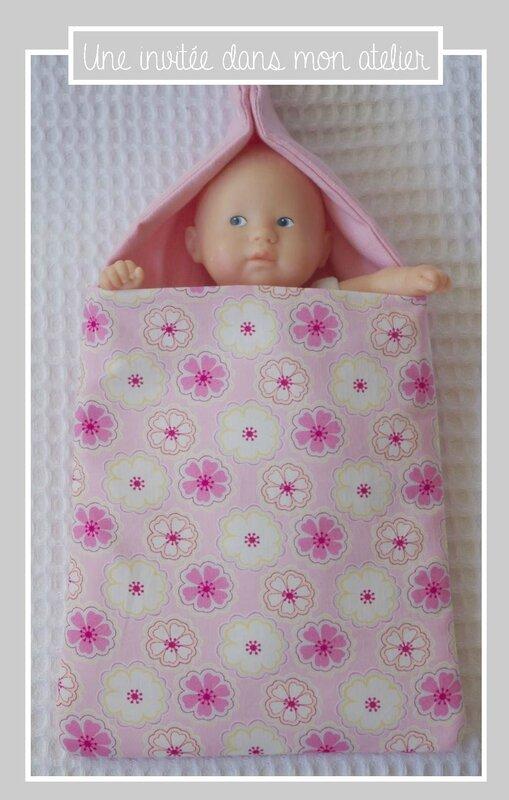 nid d'ange pour poupée-Liberty Toria rose