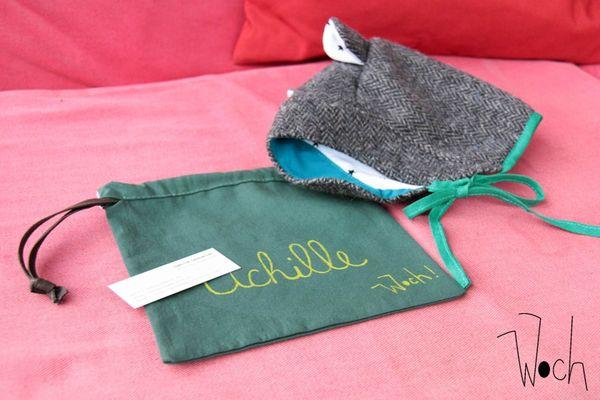 Achille pochette et béguin laine Woch 3
