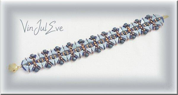 bracelet Elista bleu or1