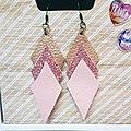Boucles d'oreilles géométrique roses