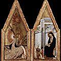 1383 (ca) - Bartolo di FREDI : Annonciation (Budapest, Musée des Beaux-Arts)