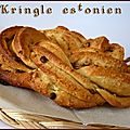 Kringle estonien au pralin et pépites de chocolat