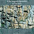 Les langues de france et les manuels scolaires : appel à communications