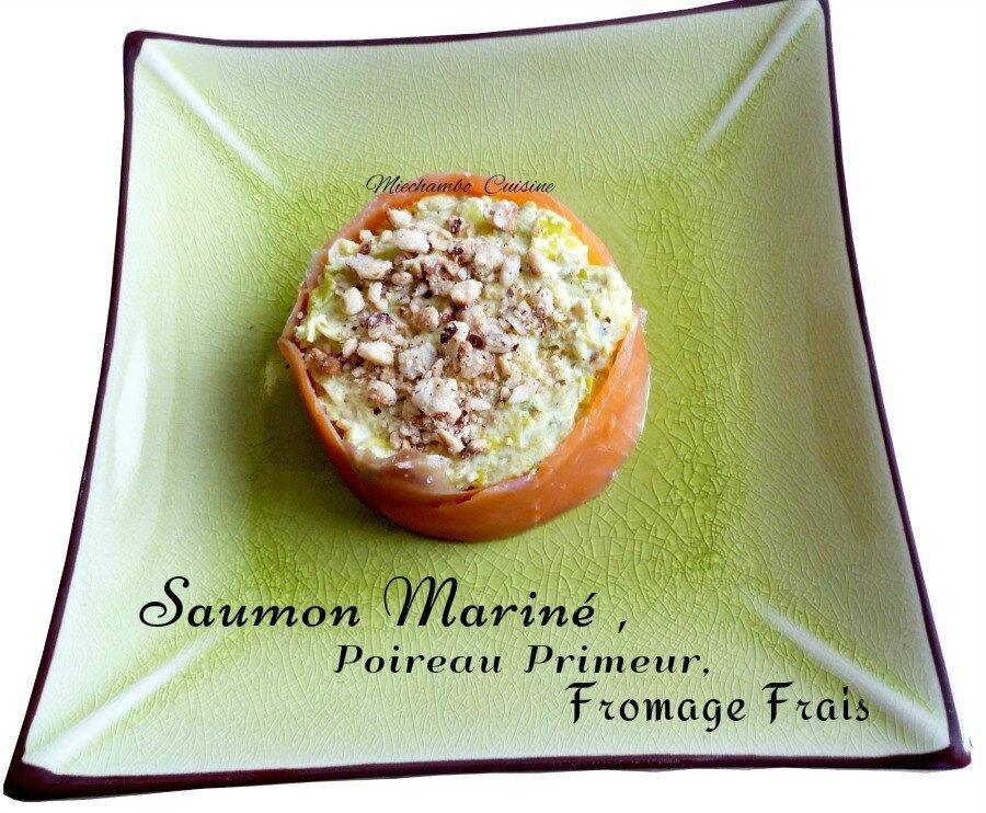 Rémoulade de poireaux primeurs au saumon et fromage frais
