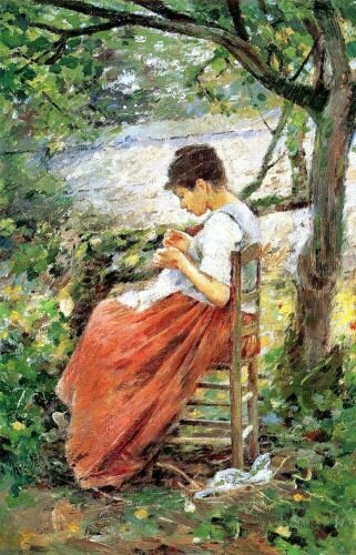 Theodore Robinson The Layette