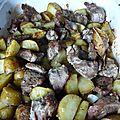 Agneau et pommes de terre nouvelles au four