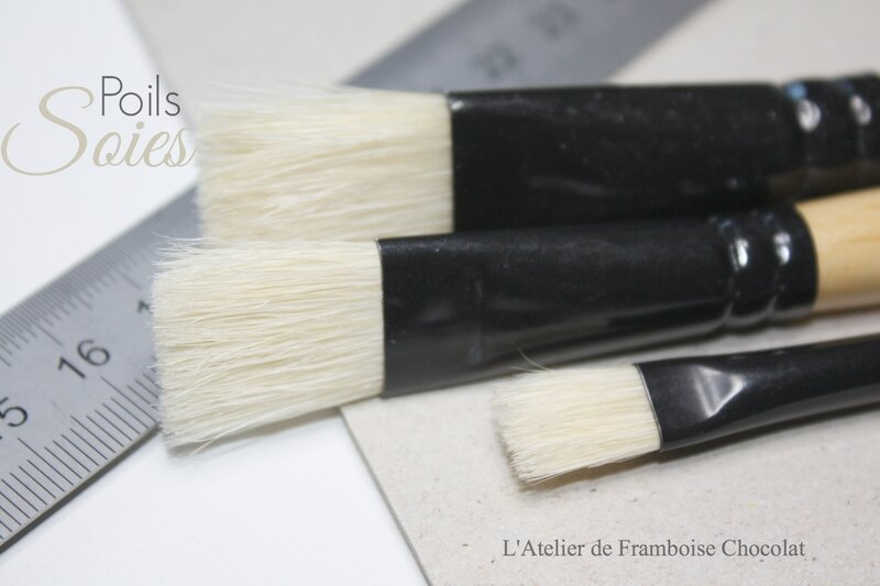 Pinceaux cartonnage 2 L'Atelier de Framboise Chocolat