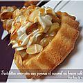Tartelettes renversées aux pommes et au caramel au beurre salé sur base de namandier