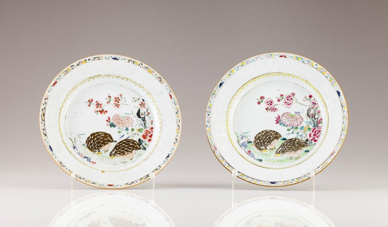 A pair of plates, Chinese export porcelain, Qianlong Period (1736-1795)