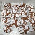 Cookies craquelés au chocolat